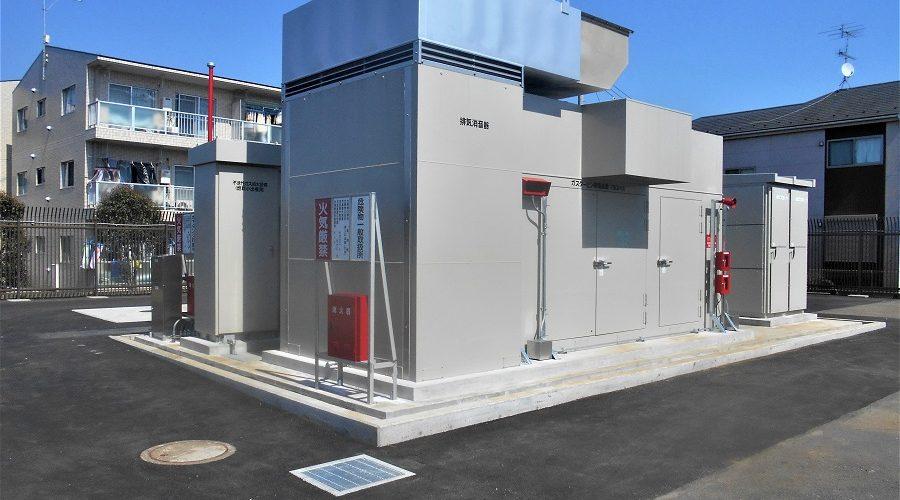 屋外用 大容量発電機設置状況